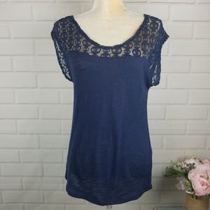 Lucky Brand size extra small women's navy blue top